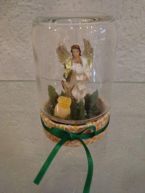 Artesanato Fofo: Oratório feito com potes de vidro reciclado