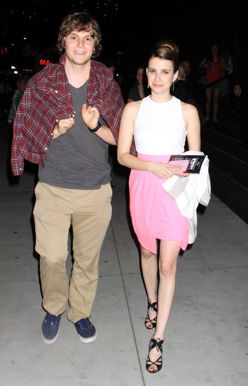"Emma Roberts and brings bf Evan Peters to ""These Girls"" event 