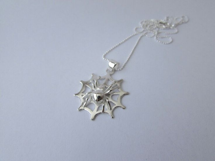Spider Pendant Sterling Silver by Nobue K