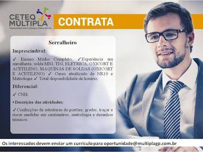 RH Manaus - Agência de Vagas: SERRALHEIRO