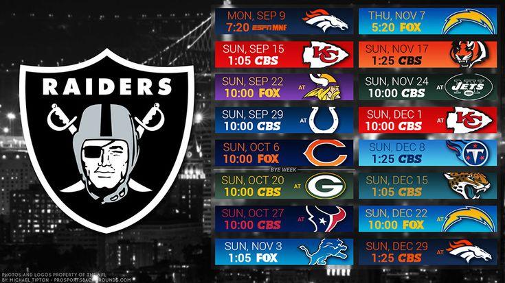 Oakland Raiders 2019 Desktop PC City NFL Schedule