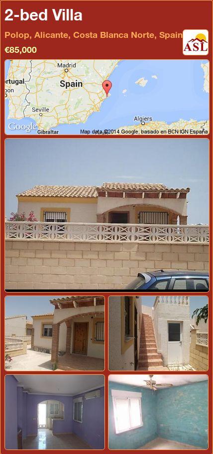 2-bed Villa in Polop, Alicante, Costa Blanca Norte, Spain ►€85,000 #PropertyForSaleInSpain