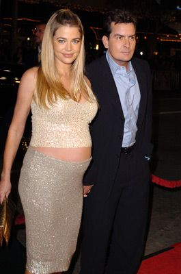 Charlie Sheen and Denise Richards at an event for The Big Bounce (2004)