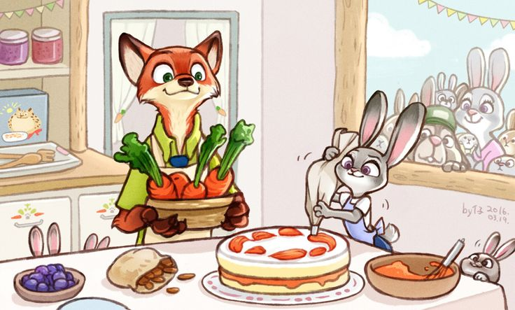 Sweet moments of Judy and Nick