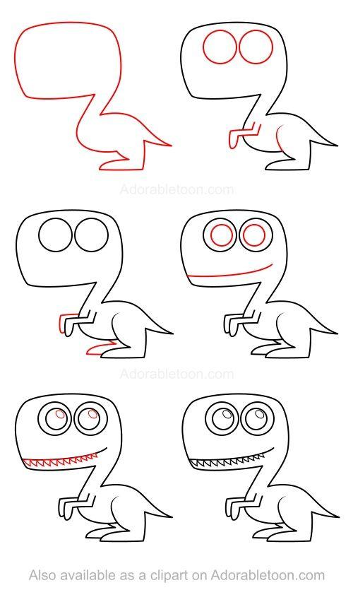 Comment dessiner un dinosaure
