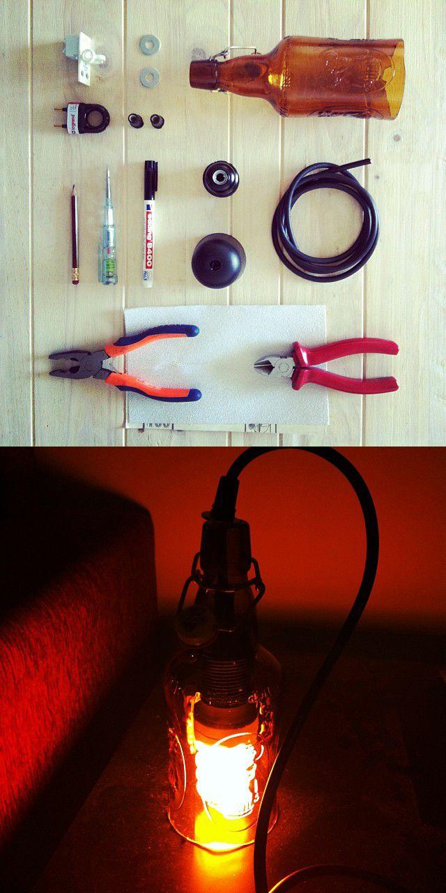DIY Beer lamp