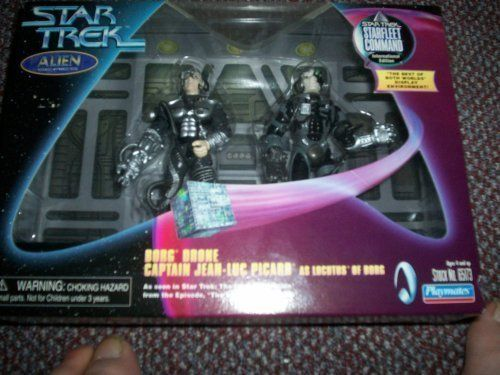 Star Trek Twin-Pack Alien Series – 5″ Borg Drone Action Figure and 5″ Captain Jean-Luc Picard As Locutus of Borg Action Figure – As Seen in…