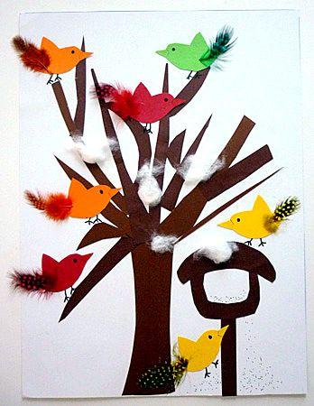 Vögel mit bunten Federn - Tiere Basteln - Meine Enkel und ich - Made with schwedesign.de