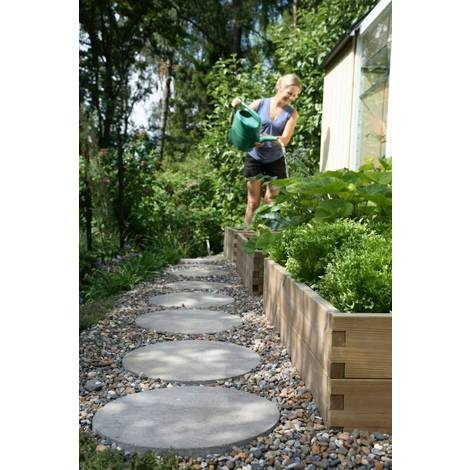 Stepping stones with gravel. Side yard front to back pathway?