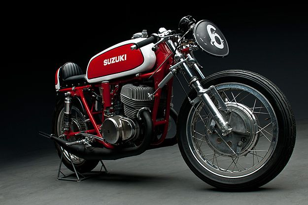 Awesome period Suzuki TS500 via Bike ExifT500 Racers, Bobs, Suzuki T500, Cafes Racers, Custom Motorcycles, Flats, Custom Bikes, Cafes K-Cup, Cafe Racers