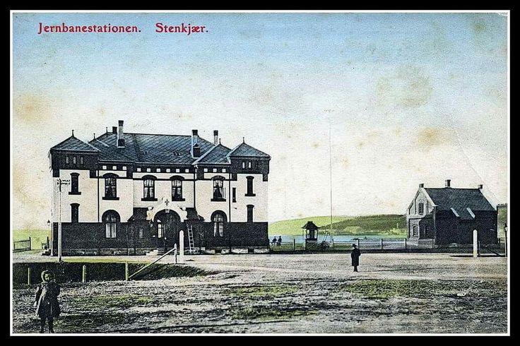 Nord-Trøndelag fylke Steinkjer jernbanestation ca 1900