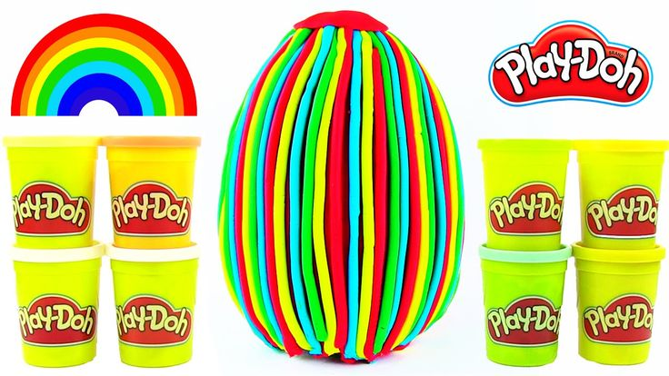 Oyun Hamuru Gökkuşağı DEV Sürpriz Yumurta Açma Play Doh Rainbow Sürpriz ...