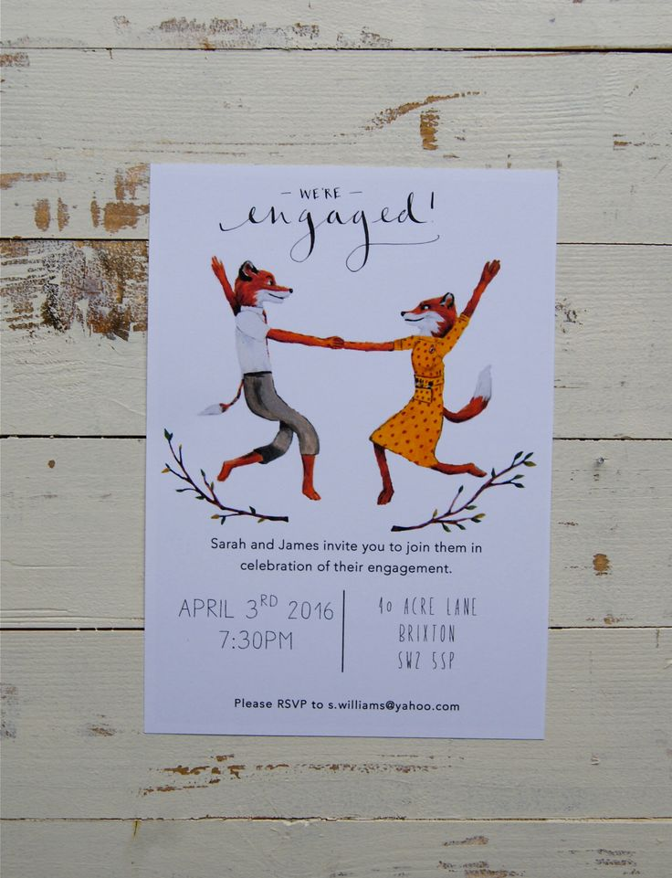 Fantastic Mr Fox Party invitations by Maggiesneedle on Etsy https://www.etsy.com/listing/266246011/fantastic-mr-fox-party-invitations