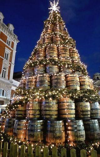 christmas barrel xmas tree in covent garden london by andr stergrd on flickr - European Christmas Tree