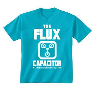 Youth-Kids-Childrens-Flux-Capacitor-Back-To-The-Future-Retro-T-shirt-5-13-Years £10