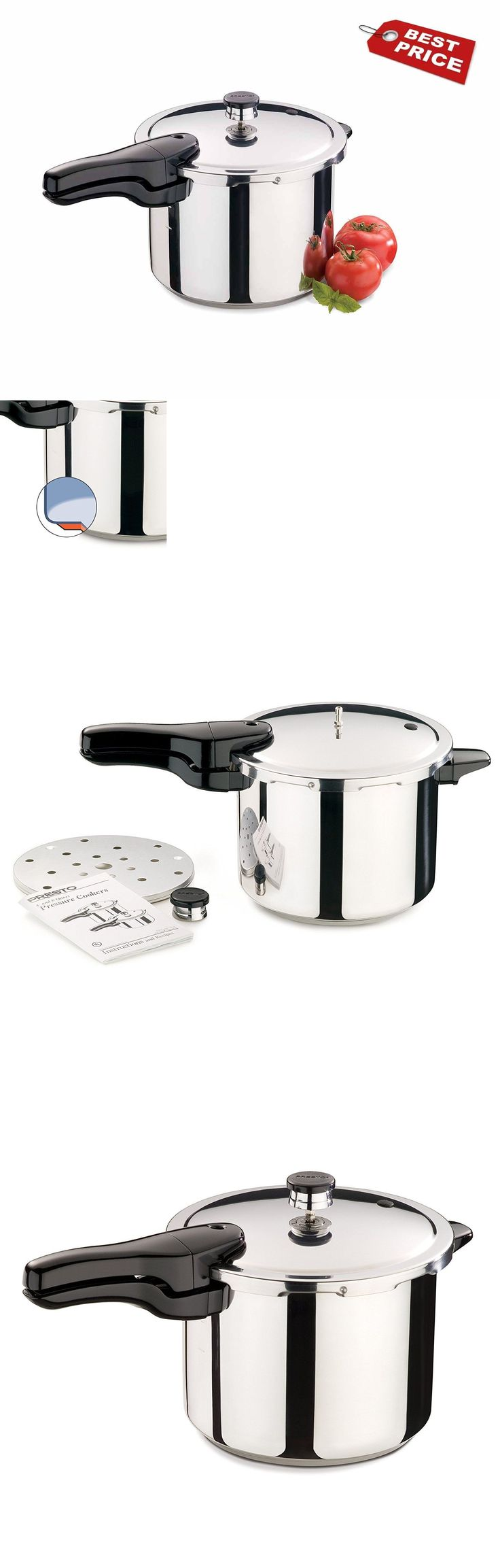Small Kitchen Appliances: New Presto 01362 6-Quart Stainless Steel Pressure Cooker *Usa* -> BUY IT NOW ONLY: $47.29 on eBay!