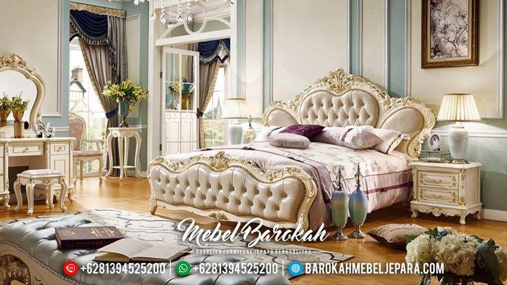 Set Tempat Tidur Mewah Klasik Duco Ukiran Mebel Jepara Murah Terbaru Foshan JK-0411
