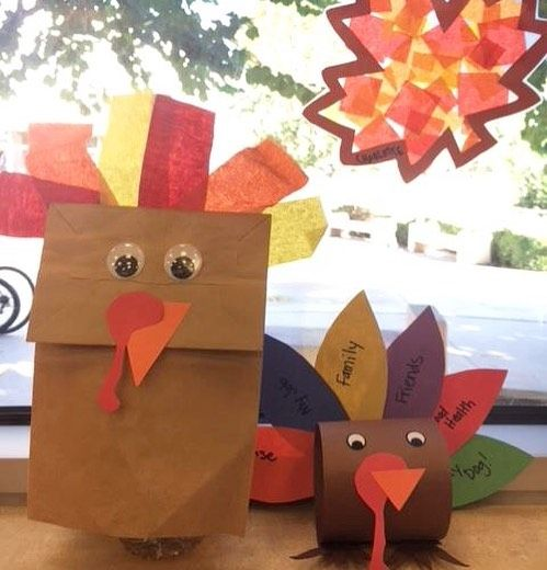"Toddlers and school-age kids at #EastLA Library got into the holiday spirit by making Turkey crafts and ""stained glass"" leaves! #thanksgiving #library #lacountylibrary"
