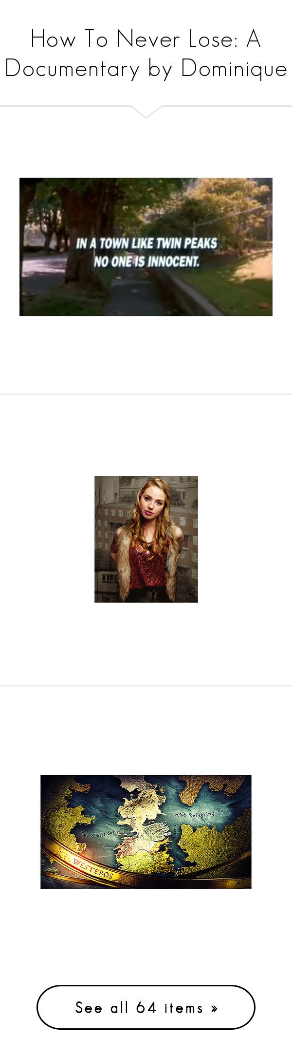"""""""How To Never Lose: A Documentary by Dominique"""" by lecoupdefoudre ❤ liked on Polyvore featuring home, home decor, freya mavor, mavor, game of thrones, backgrounds, photo, pictures, photos and people"""