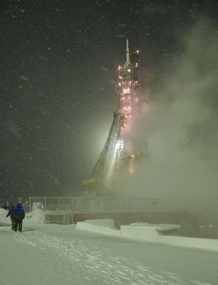 Expedition 29 Soyuz Rocket Preflight at Baikonur Cosmodrome.