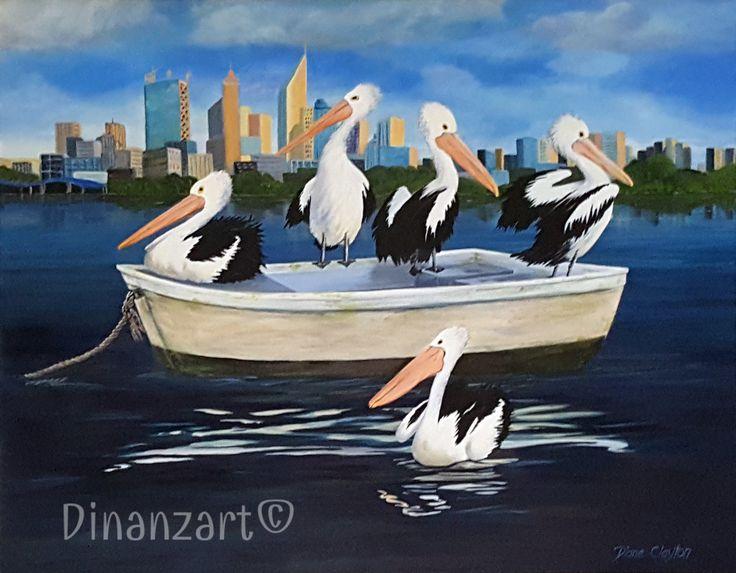#Pelicans #Perth #art #acrylic