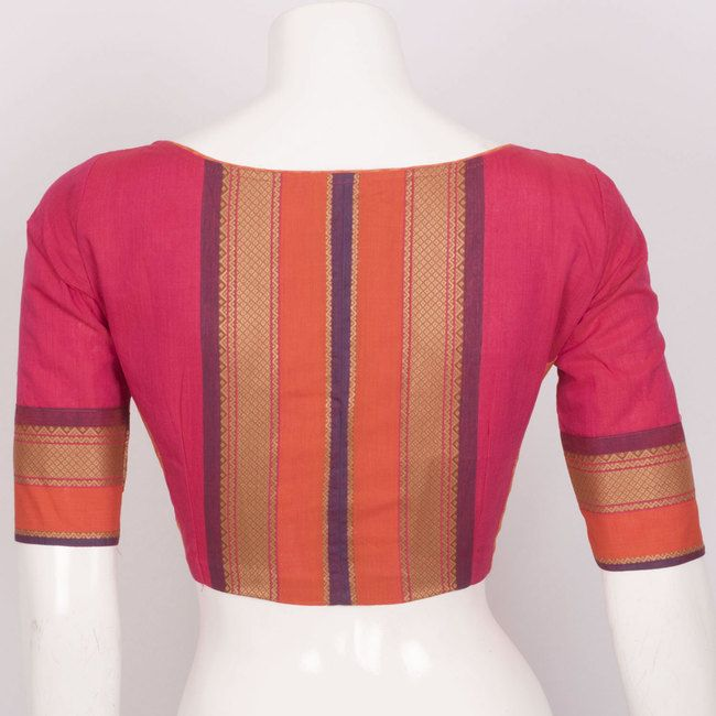 Hand Crafted Cotton Blouse With Lining & Long Sleeve 10015296 - size 38