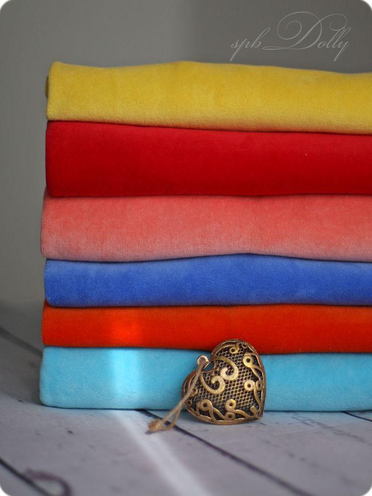 Купить Калейдоскоп Набор хлопкового ники велюра для пошива вальдорфской куклы - комбинированный, ткань, велюр