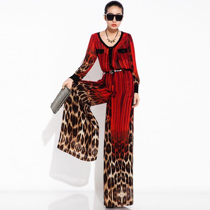 Vintage Leopard Print Jumpsuit