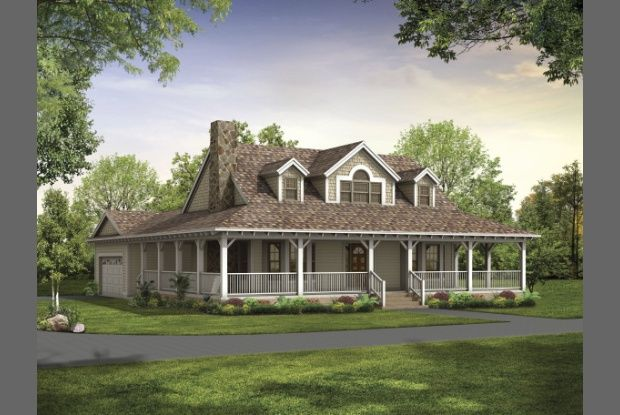 2 story house plans with wrap around porch hp25 art for Two story houses with wrap around porches