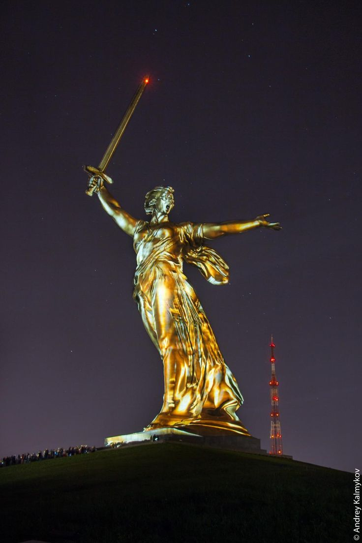 The Motherland Calls also called Homeland-Mother, Homeland-Mother Is Calling, simply The Motherland, or The Mamayev Monument, is a statue in Mamayev Kurgan in Volgograd.
