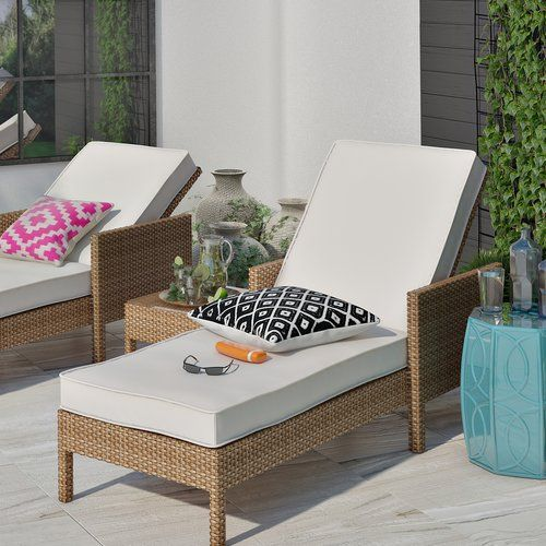 Found it at Wayfair.co.uk - Paloma Double Sun Lounger Set with Cushion and Table