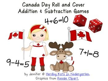 Here's a freebie in honor of Canada Day! These are great activities for math centers. Students practice their addition or subtraction while playing...