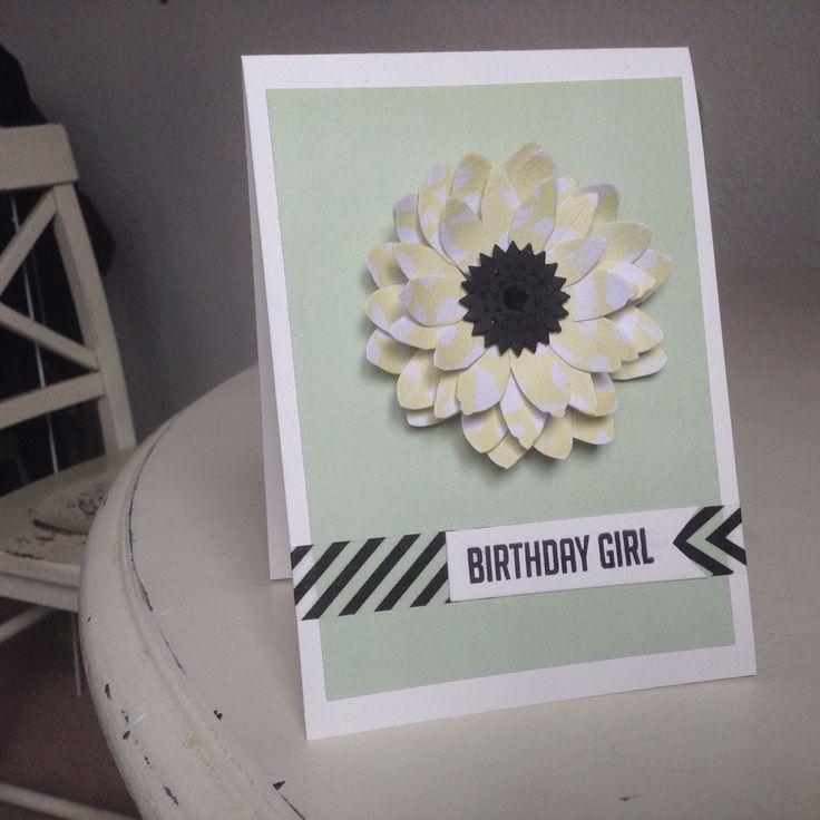 Birthday girl card - irregular crafts