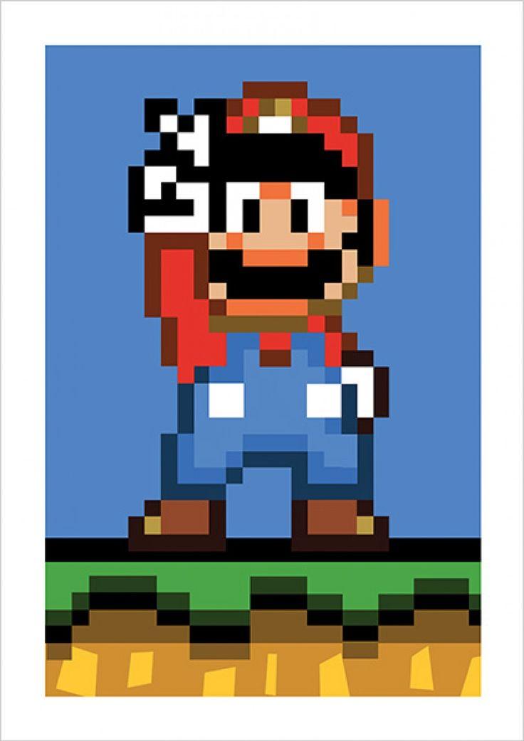 Super Mario World - Super Mario - Jogos | Posters Minimalistas