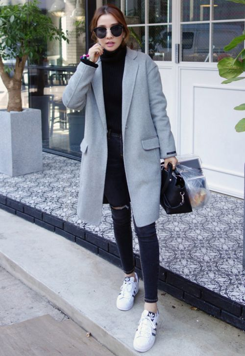 [MIAMASVIN] SINGLE BREASTED COAT WITH SLIM LAPEL