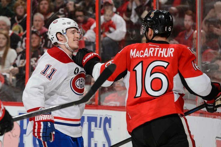 4.26.15 Habs vs Sens - Gally taunts MacArthur - Photo by Jana Chytilova/NHLI via Getty Images