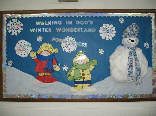 winter bulletin board idea | Bible Board/Door Ideas ...  winter bulletin...