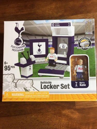 Tottenham Hotspur HARRY KANE Buildable Lego Soccer Locker Set 95 Pieces VHTF!
