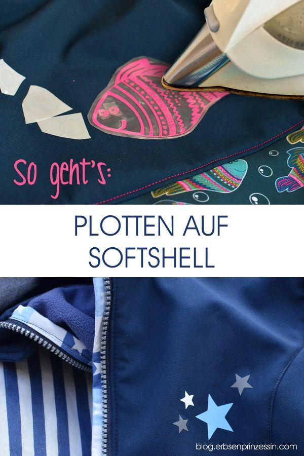 Plotten auf Softshell: Geeignete Plotterfolien, Aufbügeln der Spezial-Flexfolie, Anleitung, Tipps, Bezugsquellen #softshell #plotten #plotterfolie #plotter