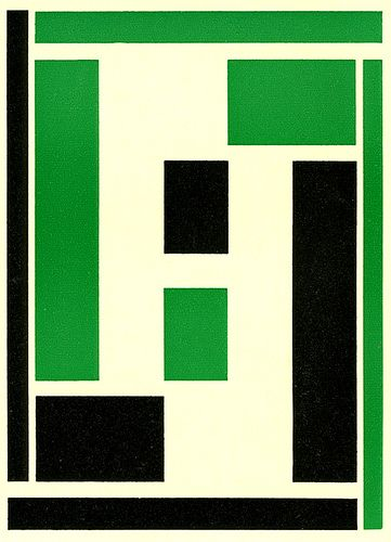 History of Visual Communications - De Stijl - Poscard by Piet Swart 1922