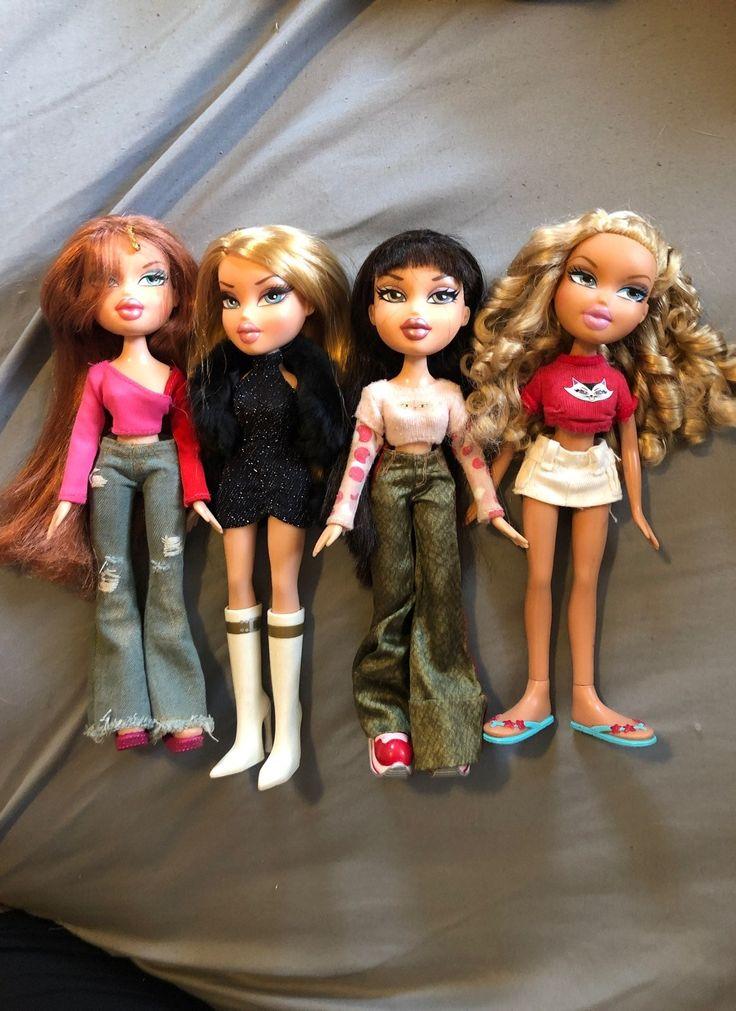 Bratz clothed assorted doll lot including genie magic
