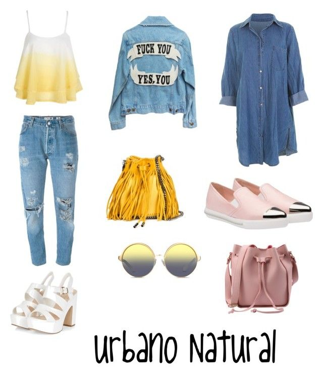 """Untitled #3"" by maria-camila-fernandez-mejia on Polyvore featuring Levi's, WithChic, STELLA McCARTNEY, Miu Miu and Matthew Williamson"