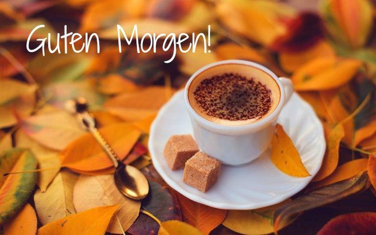 guten-morgen-bilder-kostenlos-herbst-herbsltich-kaffee-blätter