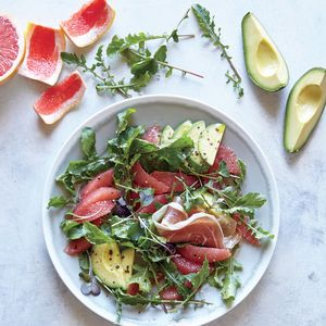 Bright, refreshing grapefruit pairs surprisingly well with nutty-earthy toasted sesame oil. This meal is full of satiating heart-healthy fats that will keep you full for a long time.