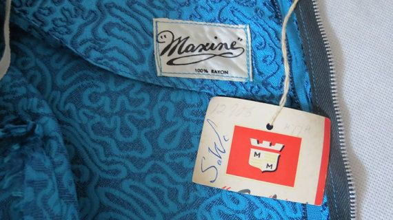 #maxine - Australian label on a 1950s dress.