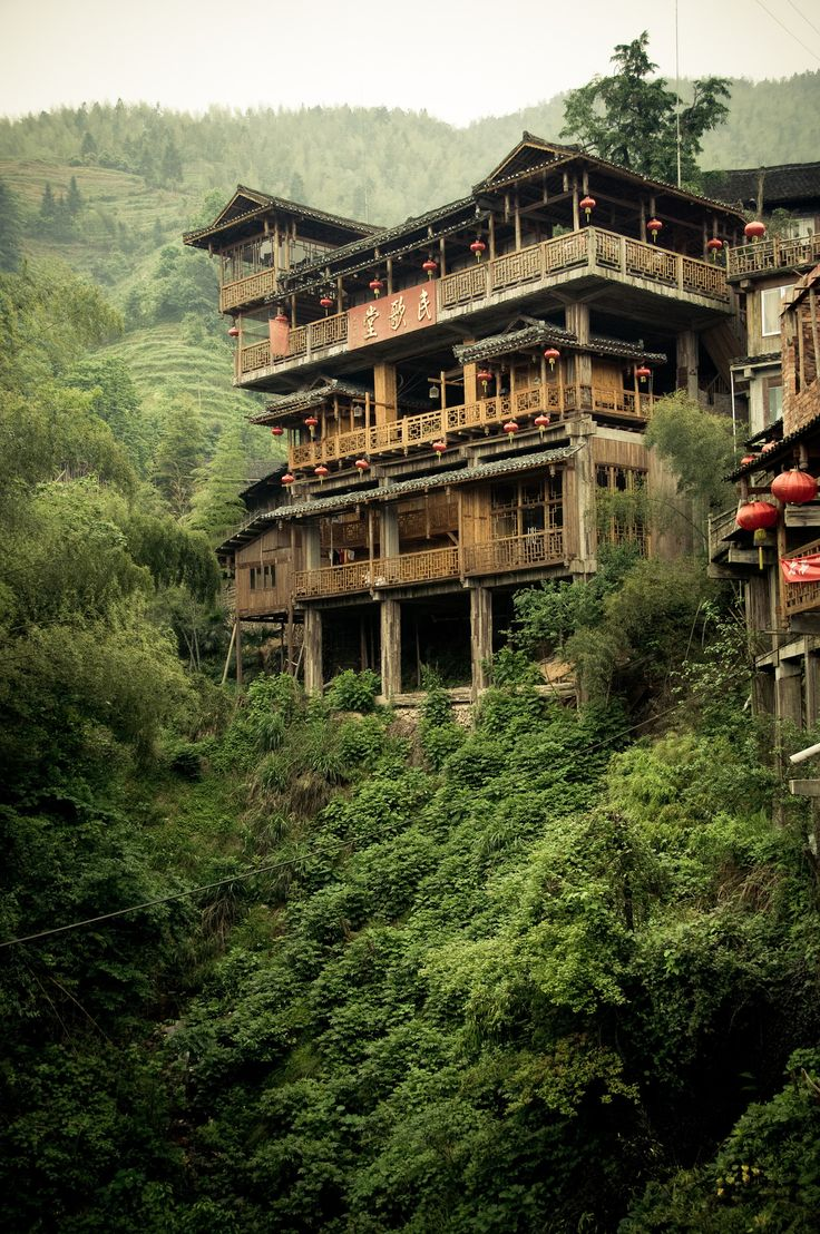 #China #Mountain #Traditional #Chinese #Architecture #Design