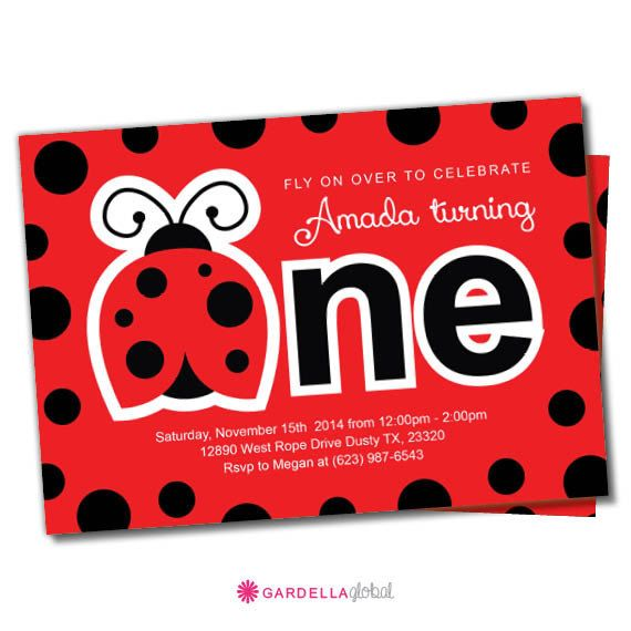 Ladybug Birthday Party, Invitation, Thank you Card, Cupcake Toppers, Water Bottle Wraps, Centerpieces, Decoration, Birthday Banner, Labels, Favor Tags and so much more!