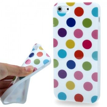 Dot Stylish TPU Case for iPhone 5 & 5s - White