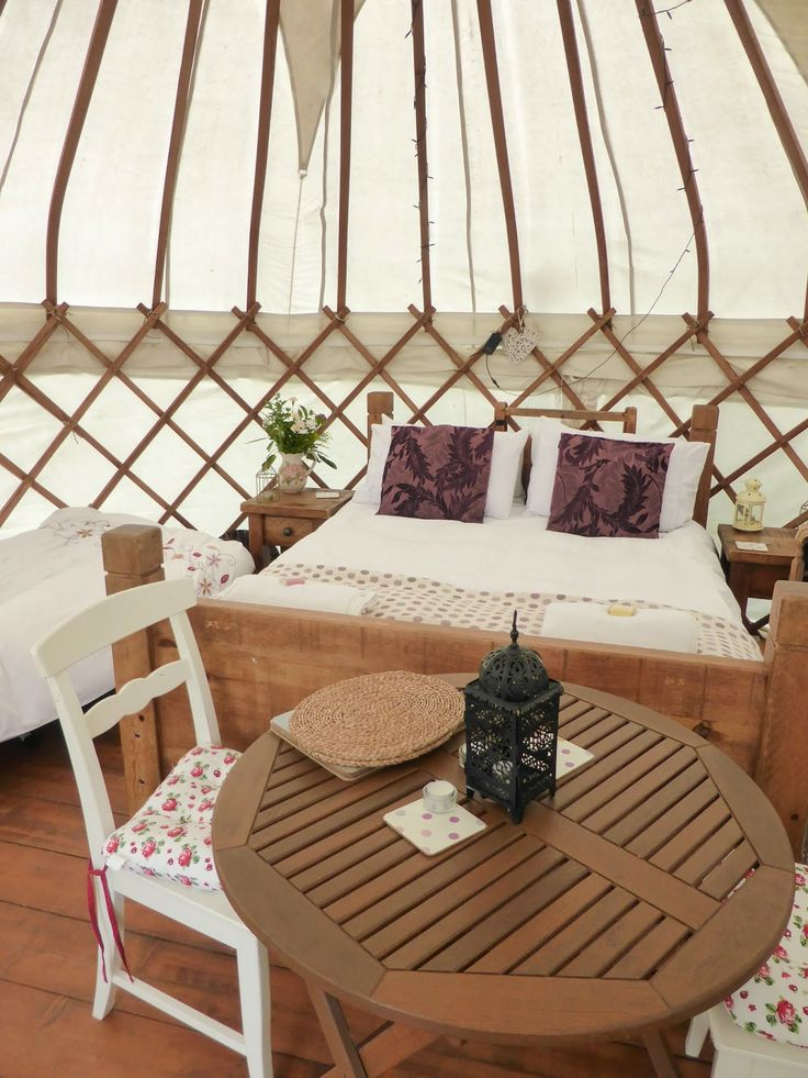 Glamping in a Mongolian yurt, Secret Cloud House Holidays, Staffordshire