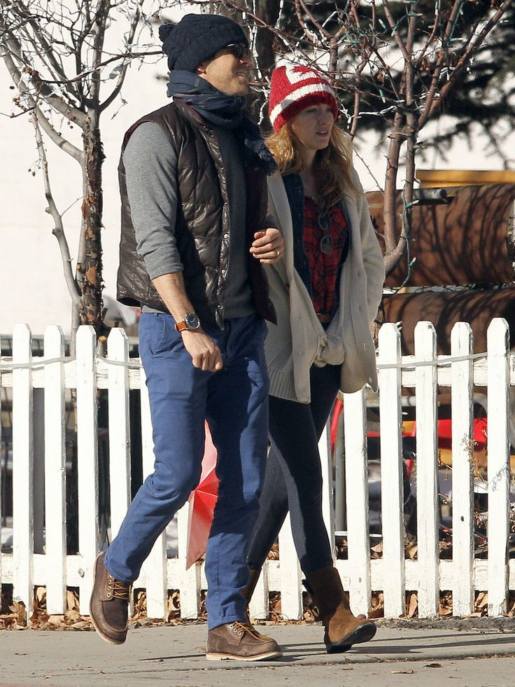 Oh, just Blake Lively and Ryan Reynolds walkin' in a winter wonderland.
